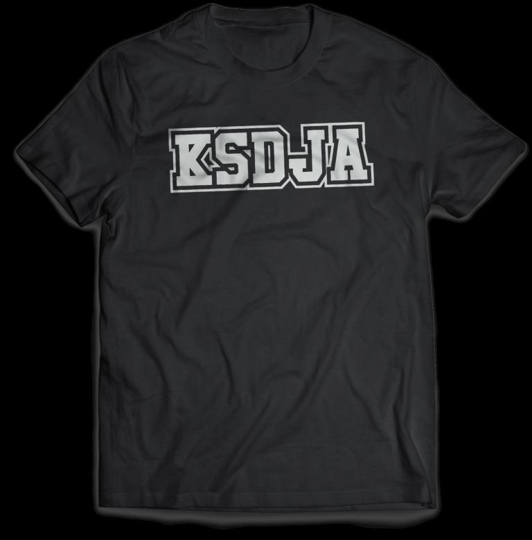 KSDJA BLACK T-Shirt MockUp_Front 2