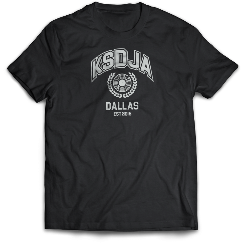 KSDJA - wreath BLACK v2 T-Shirt MockUp_Front 2